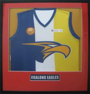 Framed footy jumper