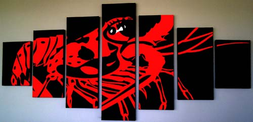 Set of canvases made from 1 picture